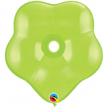 Lime Green Geo Blossom Balloons - (16 Inch) Qualatex 5pcs